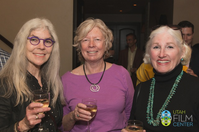 Bev Cooper (pictured center), Utah Film Center member, at a special screening of Meet the Patels.