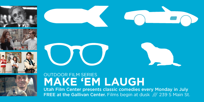 Monday's in July at the Gallivan Center -  Make Em Laugh