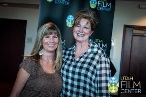 """Annette Wigham (left) at the """"Valentine Road"""" Through the Lens screening."""