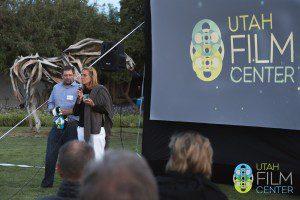 TC Johnstone and Utah Film Center Founder Geralyn Dreyfous